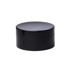 Баночка 50мл пластиковая под крем (с вкладышем) Черная
