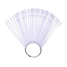 Палитра 50 типс веер на кольце с ручкой прозрачный