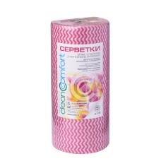 Салфетки косметологические сетка 30х50 (100шт) Розовая волна 50г/м2 спанлейс рулон CleanComfort
