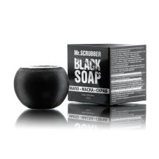 Скраб-мыло-маска для лица 120 гр Черное Black Soap Mr Scrubber
