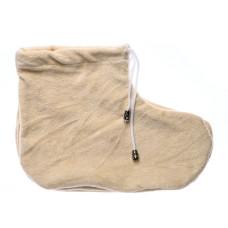 Носочки для парафинотерапии - бежевые пара, (велюр) vitess