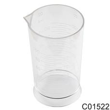 Стакан 100мл мерный пластик прозрачный