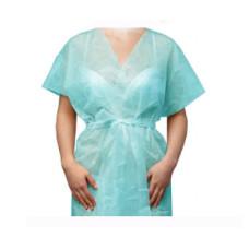 Халат-кимоно Голубой без рукавов (спанбонд) для косметологических салонов vitess