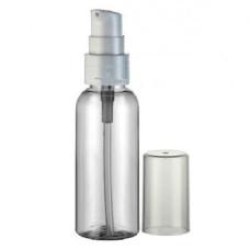 Бутылочка  50мл с дозатором и крышкой пластиковая прозрачная