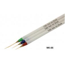 Набор кистей NK-05 (кисти уп.3шт) длинные, рисование