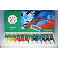 Акриловая краска Y.R.E 12шт/6мл 12 цветов (набор)
