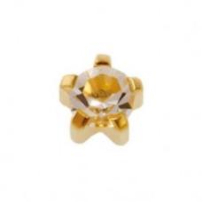 Серьги  Caflon Gold Кристалл в крапане средние R104Y