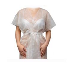 Халат-кимоно Белый без рукавов (спанбонд) для косметологических салонов vitess