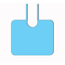 Пелерина на завязках (10шт/уп) (голубая, спанбонд) vitess