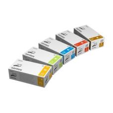Перчатки латексные SANTEX 8-9 L опудренные н/с 100 шт в уп