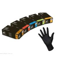 Перчатки нитрил Nitrilex Black 8-9 L черные 100 шт в уп