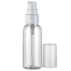 Бутылочка 100мл с дозатором пластиковая прозрачная короткий носик