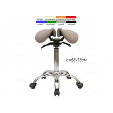 Стул-седло для мастера мод. 4008 с разделенным сидением