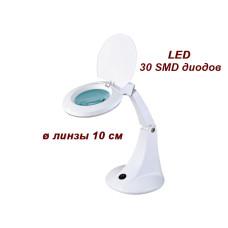Лампа-лупа настольная мод. 2012В LED, увеличение 3 диопт.