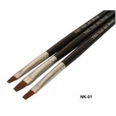 Набор кистей NK-01 (3шт, с черной ручкой)) Nail Art - шт