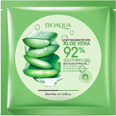 Маска для лица тканевая 30гр увлажняющая с Алое Вера Bioaqua