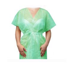Халат-кимоно Мятный без рукавов (спанбонд) для косметологических салонов vitess