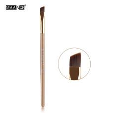 Кисть скошенный край ручка деревянная (коричневая, розовая)