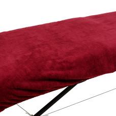 Плед махровый на кушетку, 1,4м х 1,8м  бордовый vitess