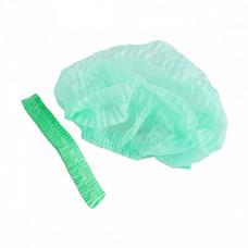 Шапочка одуванчик одноразовая зеленая (100шт/уп) двойная резинка