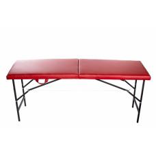 Стол массажный 2-х секционный Красный