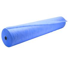 Простынь в рулоне  0,60м Х100м спанбонд  Эколайн Темно голубая
