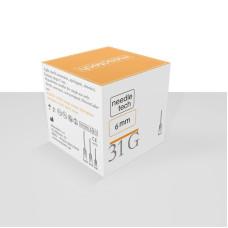 Игла G31 0,26x6 инъекционная стерильная MesoTech (100шт в уп)