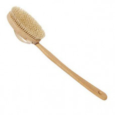 Щетка для сухого массажа тела из агавы со съемной ручкой TITANIA