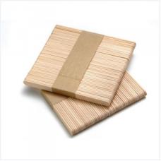 Шпатель деревянный узкий для косметических процедур одноразовый 50шт