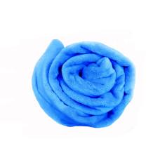 Плед махровый на кушетку, 1,4м х 1,8м  ярко синий  vitess