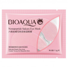 Патчи для глаз 2 шт гидрогелевые c пептидами и лепестками сакуры Nonapeptide Sakura Eye Bioaqua