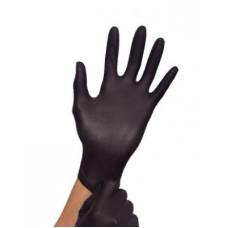 Перчатки нитрил Puracomfort Black 6-7 S черные 100 шт в уп