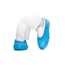 Бахилы 100% полиэтилен, голубые 3,5гр. (плотные)  (50пар в уп)