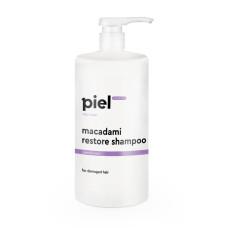 Шампунь для волос 1л восстанавливающий для поврежденных волос Macadami Restore Shampoo Piel