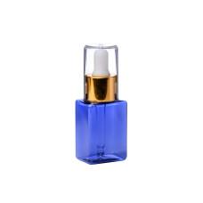 Бутылочка  50мл с пипеткой флакон синий пластик