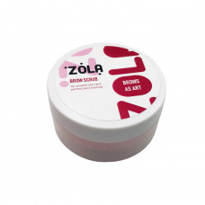 Скраб для бровей 50мл абрикос Zola