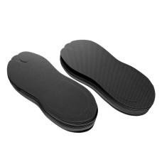 Тапочки - вьетнамки одноразовые M-L 2,5mm 12 пар в упаковке черные EvaLine